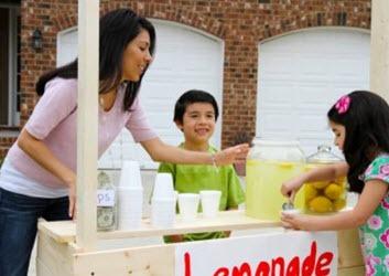 Goal setting for kids - lemonade stand