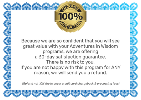 100% Satisfaction on our Life Coaching for Kids Mindset Training Packages